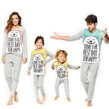 Family Christmas Pajamas Set Family look Clothes Adult Kids Pajamas Baby Romper Santa Sleepwear XMAS Family Matching Clothes цена