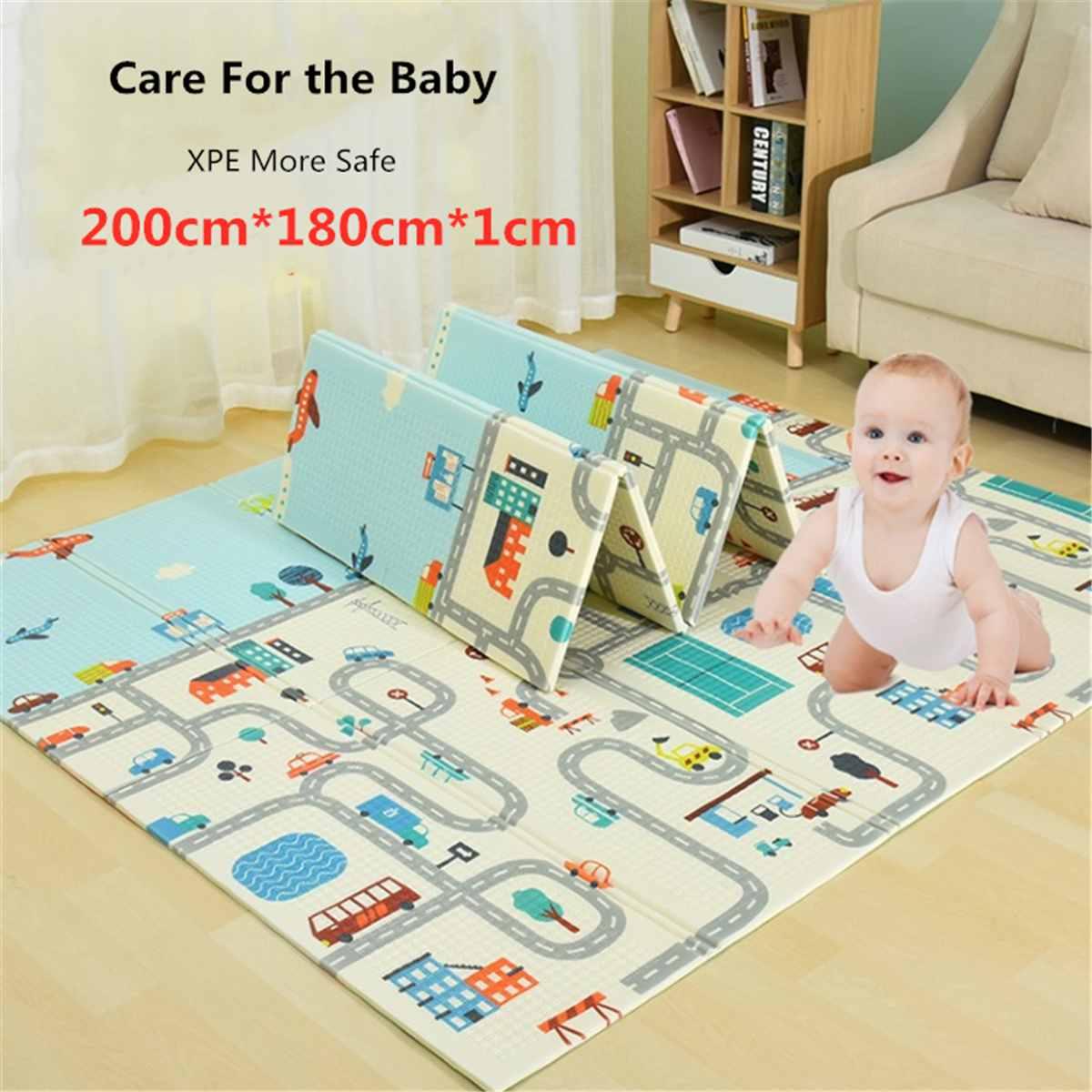 200x180x1cm tapis pour bébé XPE Puzzle enfants tapis épaissi Tapete Infantil bébé chambre ramper tapis enfant en bas âge pliant tapis
