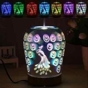3D LED Light 7 Colors Peacock