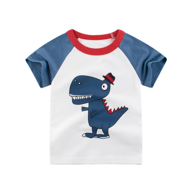 VIDMID Boys t-shirts Cars Short Sleeve T-shirt Kid baby Boys Casual Sport tees Children Summer Dinosaur tops Clothing 4037 05 3