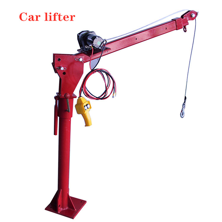 Load-bearing 0-500KG Car Lifter Car-mounted 12V Mini-truck Crane 220V Household Electric Hoist 24V Truck Crane