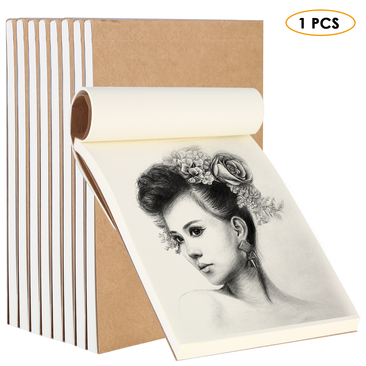 80 Sheets Blank Flipbook 1pc Blank Flipbooks Drawing Sketchbook Kraft Cover Drawing Sketchbooks For Animation Cartoon Creation