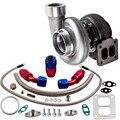 GT45 V-Band 1 05 A/R 98 мм огромный 600 + HP Boost Turbo универсальный + подача масла + сливная линия  турбокомпрессор