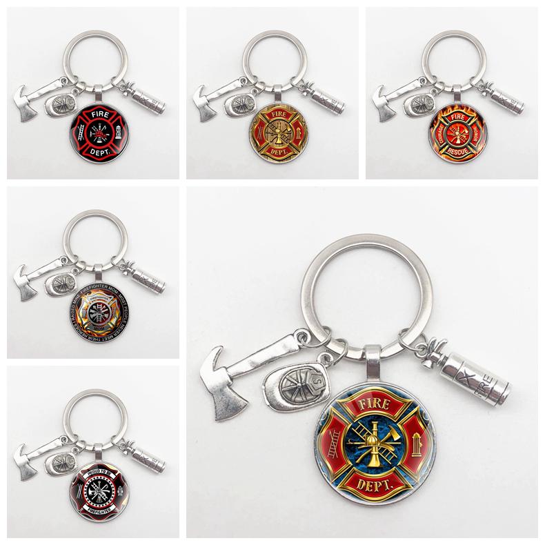 Новинка 2020, брелок для ключей от пожарного, огнетушителя, шляпы, топора, инструмент, подвеска, брелок для мужа, подарок