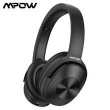 Mpow h12 fone de ouvido híbrido atualizado, cancelamento de ruído, bluetooth, headset, hi fi, som grave profundo, fone de ouvido com 30 horas de tempo de reprodução