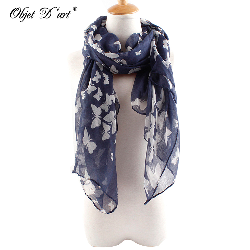 Women Ladies Soft Long Neck Large Butterfly Soft Scarf Wrap Shawl RE