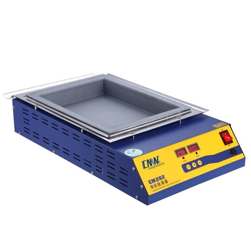 Square High Temperature Lead Free Soldering Pot Titanium Solder Furnace Tin Melting Digital Display 220V 110V CM-282 600C 2000W