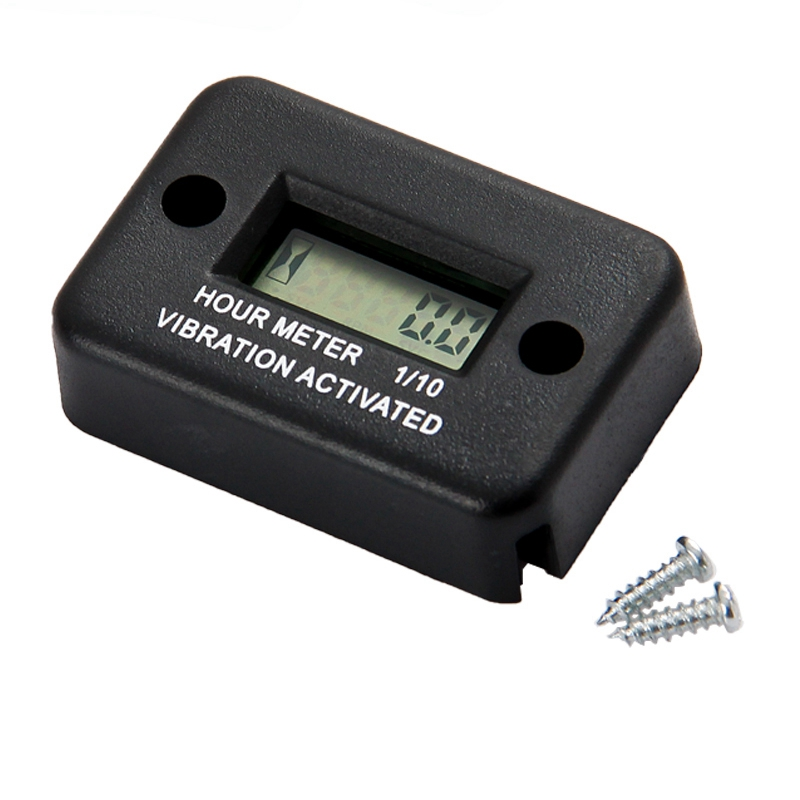 New Vibration Hour Meter with Battery Timer with Induction Portable Motorcycle Digital Meter Jet Ski Timer Accumulator