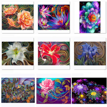 DIY 5D Diamond Painting Abstract Flower Full Square Round Drills Mosaic Embroidery Cross Stitch Wall Decoration large diy diamond painting abstract venice city of water embroidery beads cross stitch full square round mosaic decor fs4695