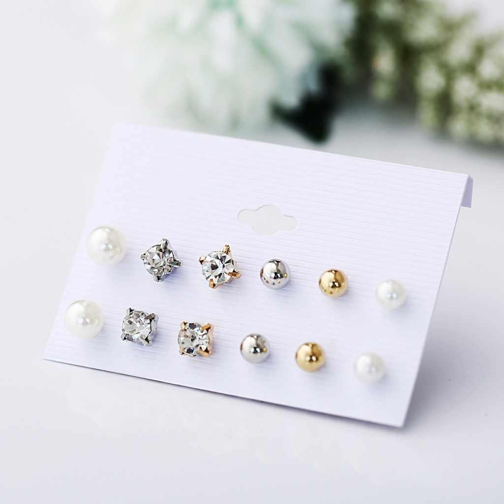 Berlian Imitasi Sederhana Persegi Kristal Drop Anting-Anting untuk Wanita Pernyataan Pernikahan Merek Perhiasan Pendientes Mujer Trendi Pendientes