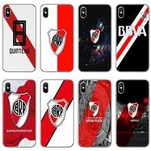 Suave funda para Samsung Galaxy A10 A30 A40 A50 A60 A70 A6s A8 A9s J4 J6 primer Plus 2018 de fútbol del Río de La Plata.