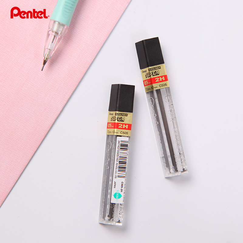 1 Pc Pentel C505 Lead Refills 0.5mm 2B HB 2H Black  12 Leads Per Tube  0.5 Mm Mechanical Pencil Lead