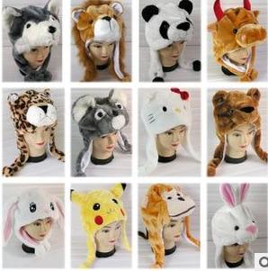 Cute Bunny Plush Cartoon Animal Hat Simulation Animal Hat Warm Earmuff Children's Performance Props