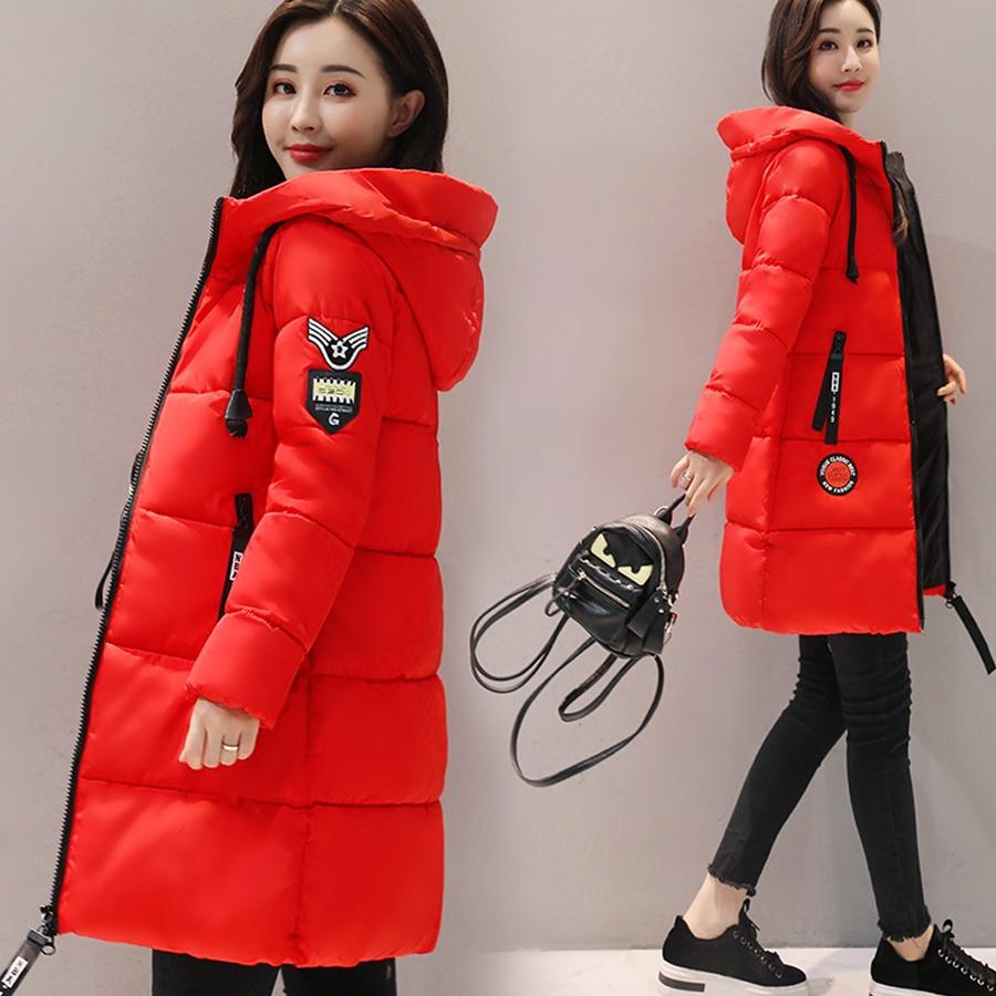Большие размеры женская одежда 2017 зимняя куртка женская хлопковая стеганая парка утепленная теплая куртка с капюшоном Длинная женская верхняя одежда|Парки|   | АлиЭкспресс