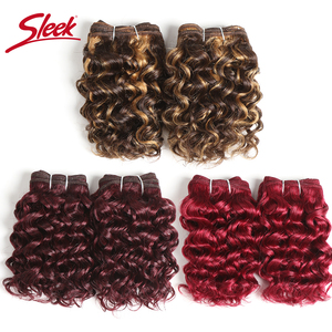 Гладкие волосы бразильские Remy кудрявые человеческие волосы с двойным нарисованным пианино цвет 4/27 # красный цвет 99j # Бург # пучки волос для н...