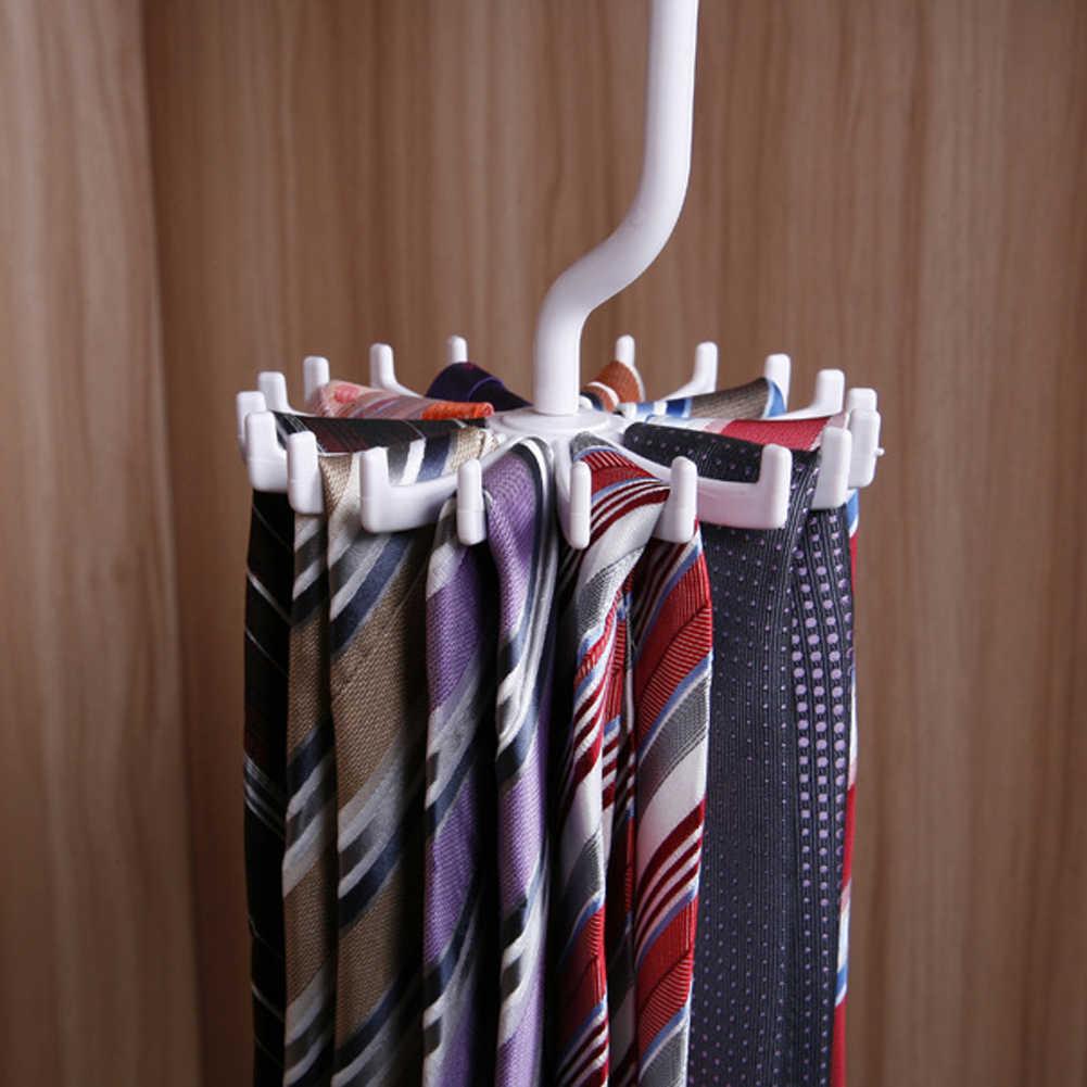 Uchwyty do przechowywania nowe zakwalifikowane 20 haki szafa szalik obracanie białe plastikowe ubrania Levert Dropship wieszak organizator wieszak na krawaty