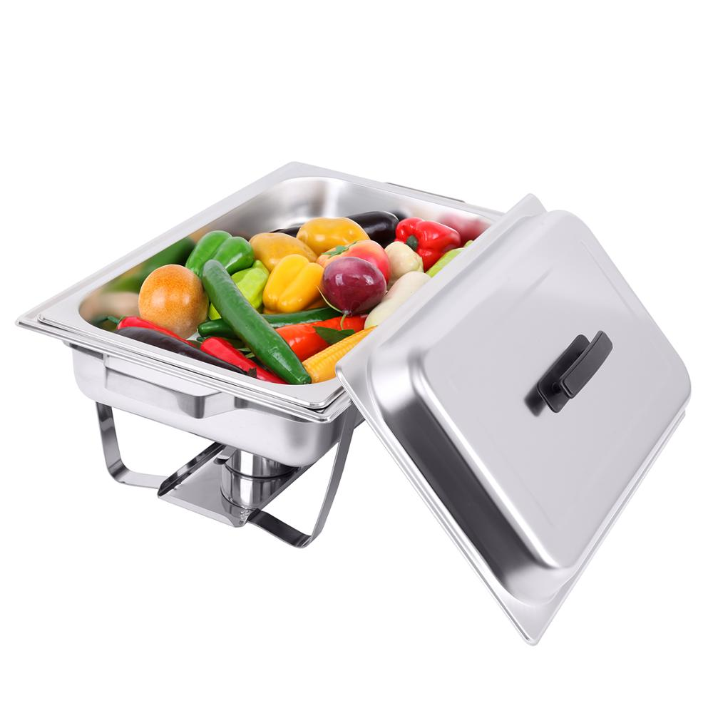 (Ship From EU) 9L Chafing Dish Buffet Restaurant Mechanical Hinge Induction Food Warmer Stainless Steel