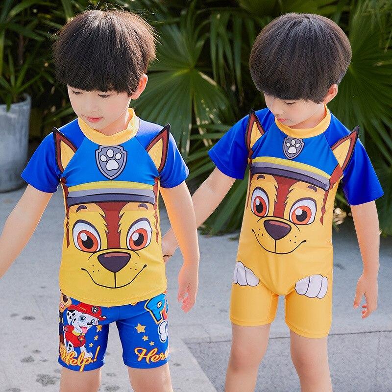 2019 Item Swimwear Cartoon Korean-style New Style Hot Springs One-piece Split Type Dog Kid's Swimwear