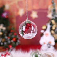 PCreative LED Transparent Lights Ball Hanging Christmas Decorations For Home Garden Tree CM