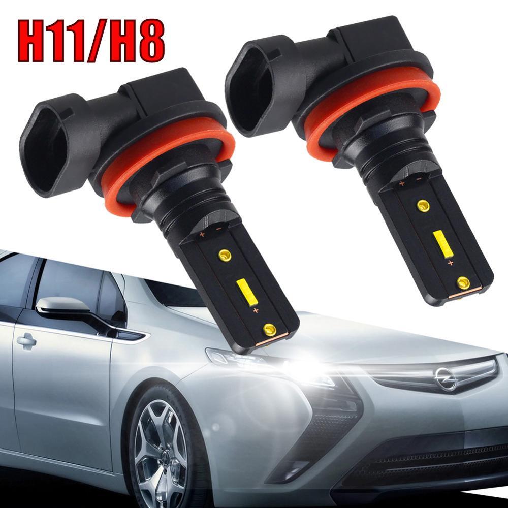 2Pcs H8 H11 Led Fog Lights Bulb 1860 CSP Chips 11000LM 6500K White Car Driving Running Lamp Auto Leds Light 12V 24V