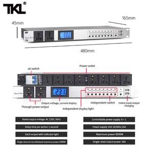 Image 5 - TKL D10 10 canaux séquence de puissance professionnel Audio contrôleur de commutateur dair barre de multiprise automatique protéger efficacement
