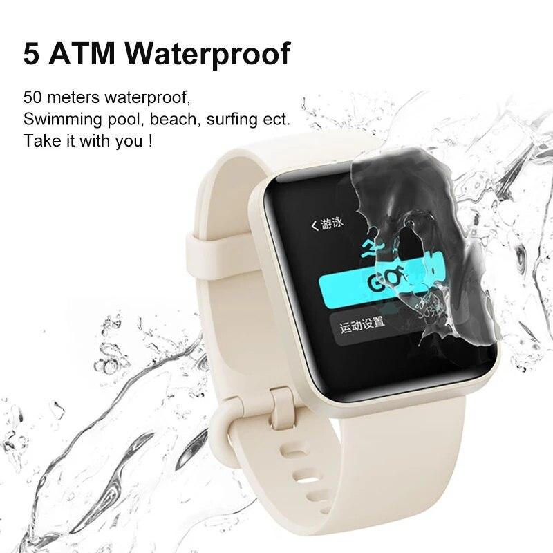 Mi Watch Lite глобальная версия GPS фитнес-трекер монитор сердечного ритма спортивный браслет 1,4 дюйма Bluetooth 5,0 умные часы-2