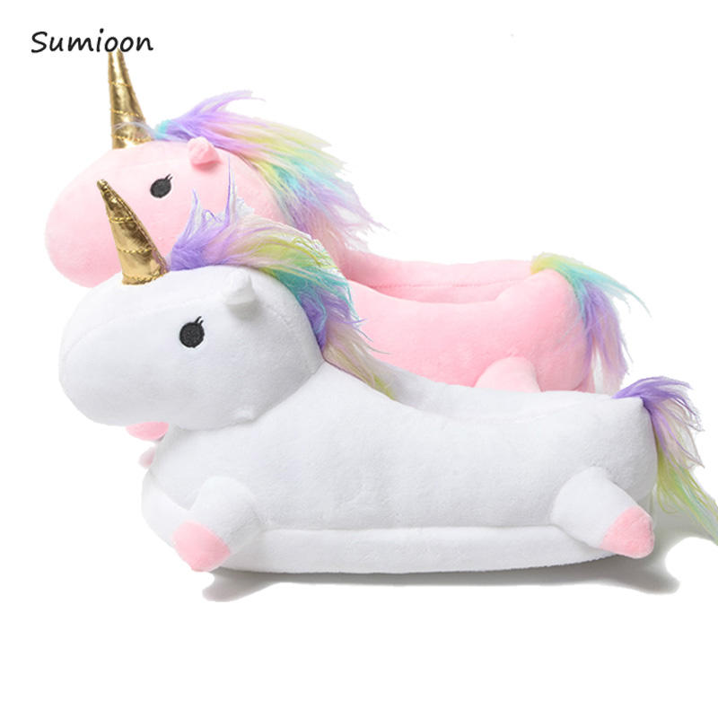Unicorn Slippers Cartoon Animal Claw Kigurumi Onesies Pajama Shoes Kid Adult Funny Cosplay Party Wear Home Boys Girls Slippers