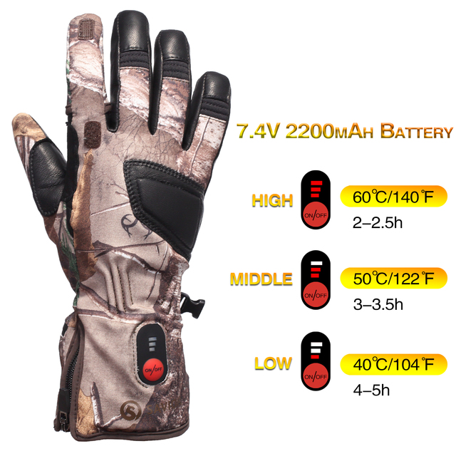 Heated Hunting Gloves Carbon Fiber Transfer Running Skiing Bicycling  Electric X-tiger 2020 Luva De Ciclismo Tactical Gloves 4