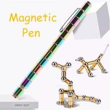 Caneta de toque para o telefone caneta magnética metal ímã modular pensar tinta brinquedo toque caneta stylus para iphone ipad brinquedo descompressão caneta polar