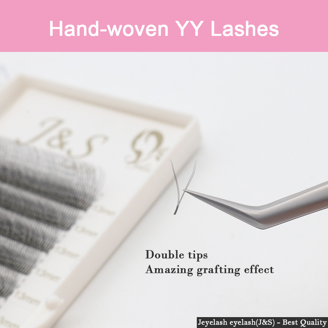 [Jeyelash eyelash] 5 Cases Premium YY Lashes False Mink  Y-shape Eyelashes  Extension 0.07mm Mesh Net Cross  Makeup Tool 2