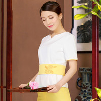 New Beautician Workwear Suit Summer Beauty Salon Workwear Short sleeved Health Care Technician Wear Short sleeved Women