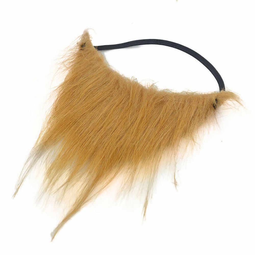 Divertido disfraz bola bigote práctica bromas vestido falso barbas fiesta de Halloween Cosplay Whiskers para Mujeres Hombres niños regalo