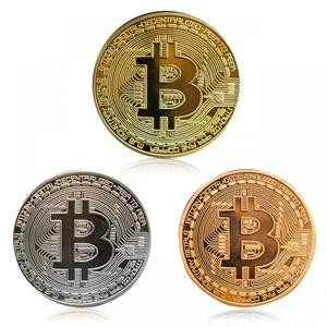 2019 Gold Plated Bitcoin Coin Collectible Art Collection Gift Physical commemorative Casascius Bit BTC Metal Antique Imitation(China)
