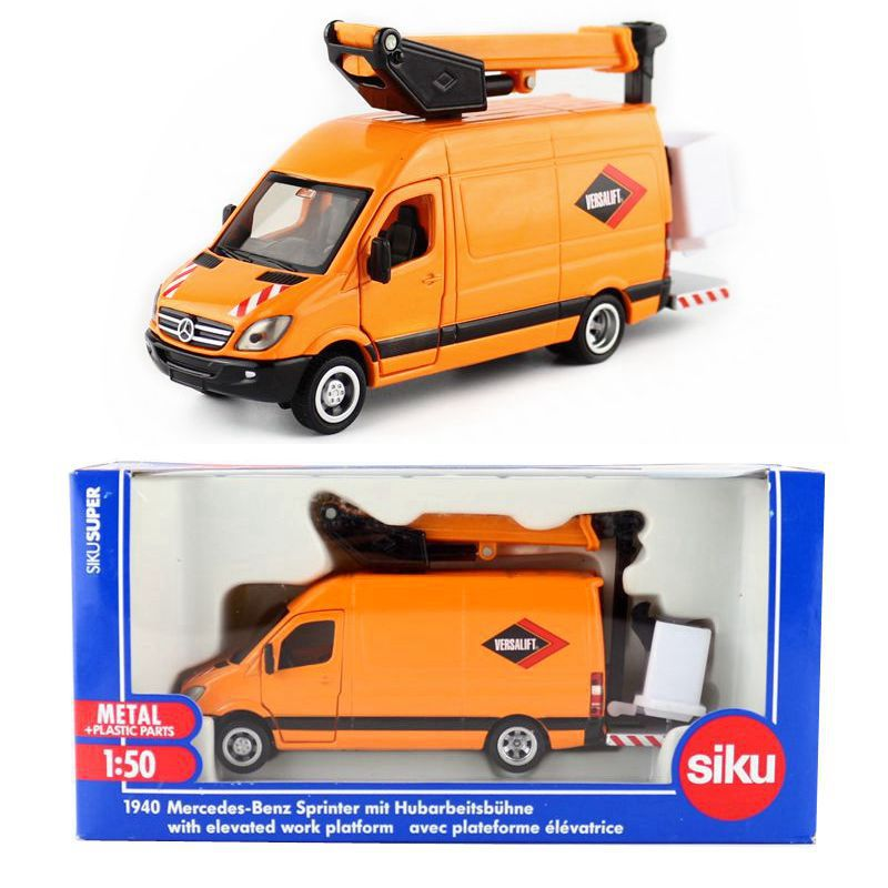 Siku 1940/Diecast Metal Model/1:50 Scale/Sprinter With Elevated Work Platform/Educational Toy Car/Gift For Children/Collection