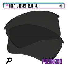 Replacement Lenses Sunglasses-Black-P Half-Jacket For-Oakley Polarized XL