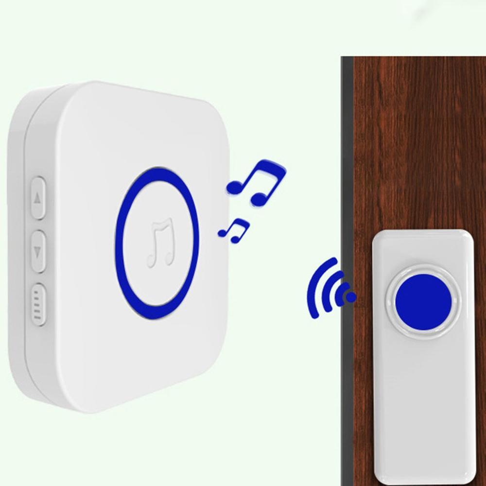 Home Security Welcome Wireless Doorbell Smart Chimes Doorbell Alarm Waterproof Touch Button