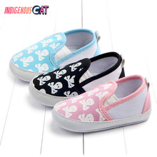 Newborn Baby Shoes Fashion Girl Retro Printed First Walker Toddlers Kids Soft Bottom Cotton 0-18 Months