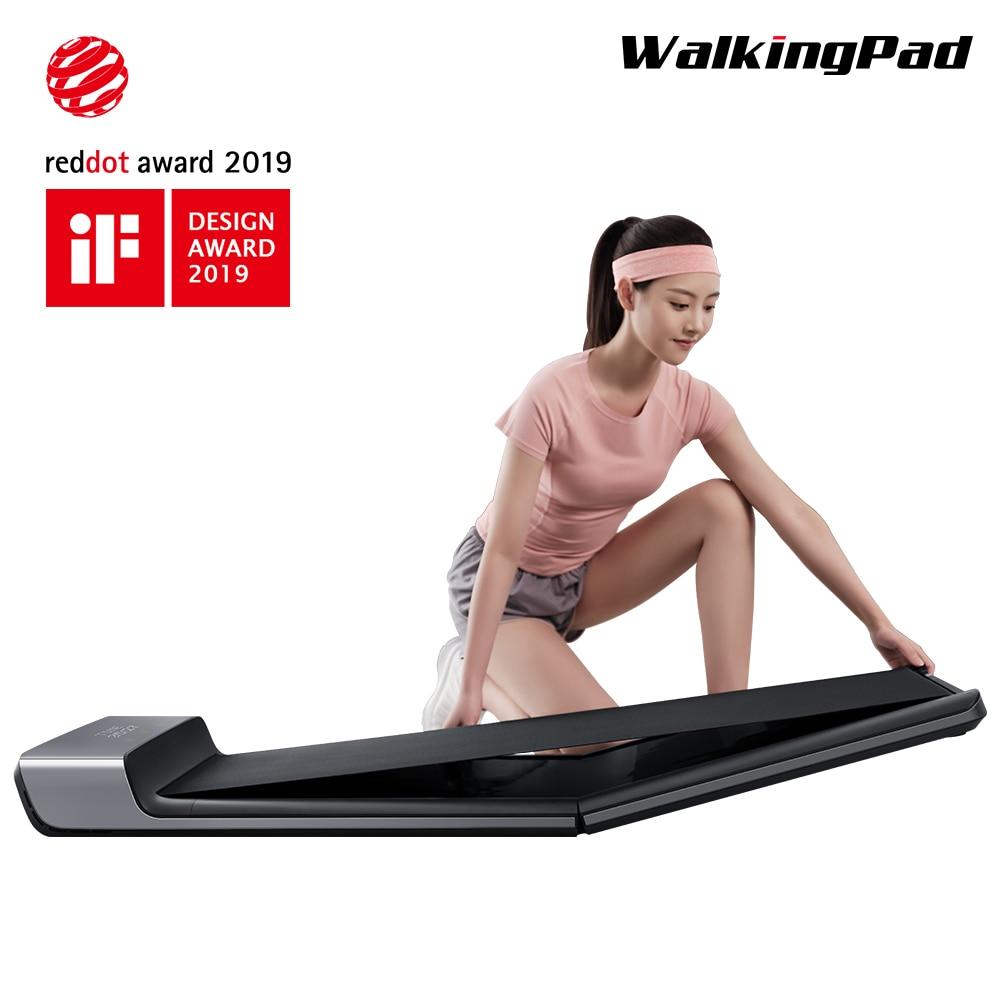 WalkingPad A1 Pista Pieghevole Smart Spazio Elettrico Macchina A Piedi Luce di Sport Tapis Roulant esercizio Aerobico Treno Casa Allenamento Pista