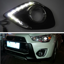 Ru Stock for Mitsubishi RVR ASX Outlander Sport 2013-2015 LED DRL Running Lights Daytime Daylight 12v lamp car-Styling light стоимость