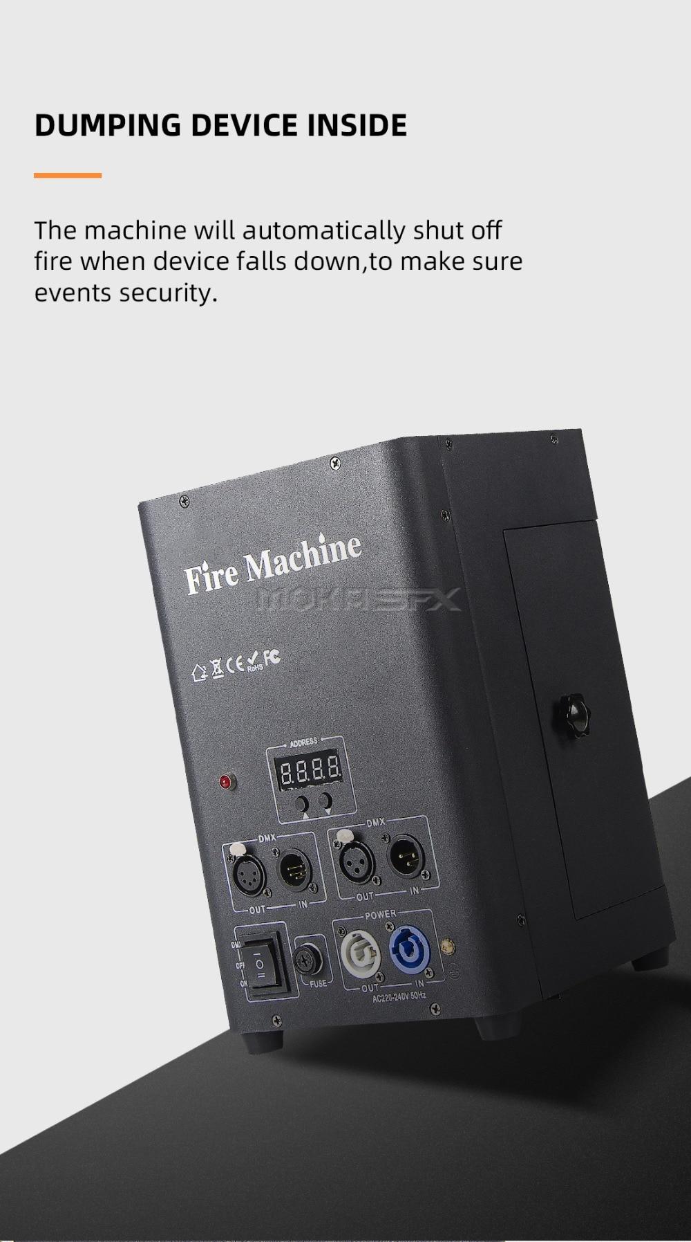 dmx flame machine