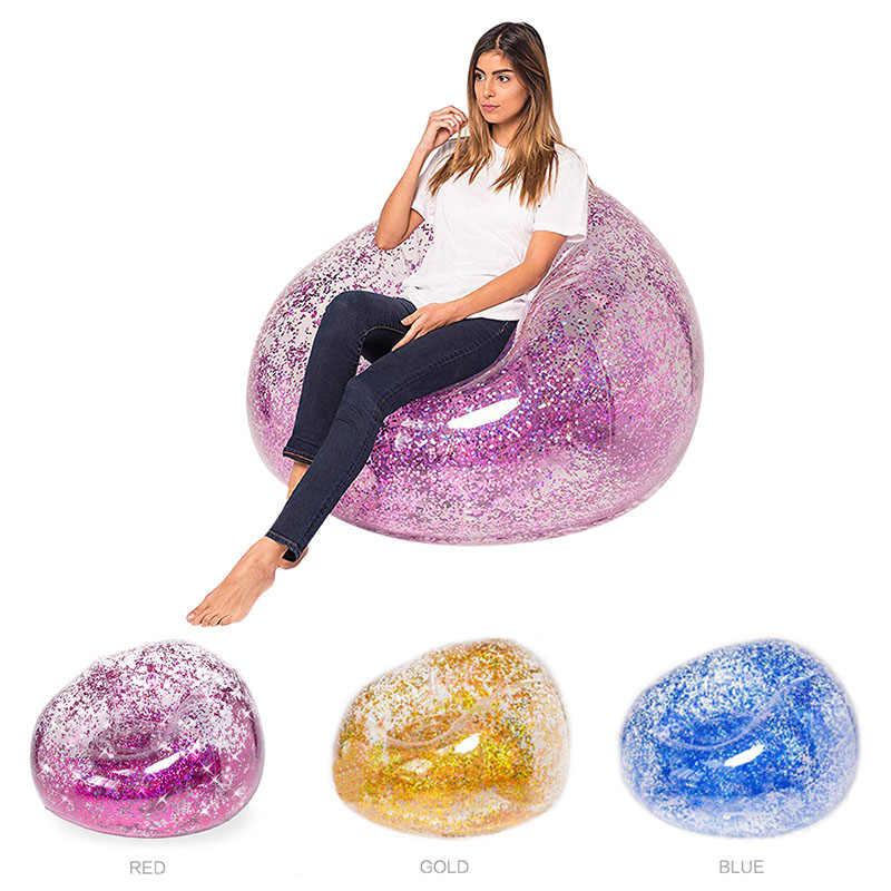 Sac Air canapé imperméable à l'eau paillettes gonflable PVC chaise plage fête maison bureau LAD-vente
