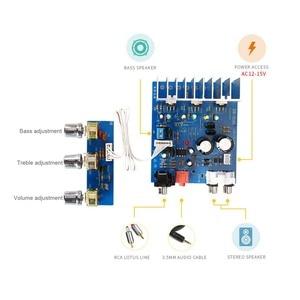 Image 2 - 2.1 15W * 2 + 30W TDA2030 double AC12V 15V amplificateur de basse carte Sub Audio stéréo pour bricolage haut parleur ampli accessoires F6 013