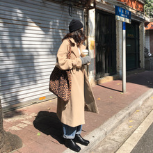 Mooirue 2019 Winter Wool Coat Women With Sashes Korean Style Streetwear Straight Oversized Harajuku Long Cardigan Loose Coats