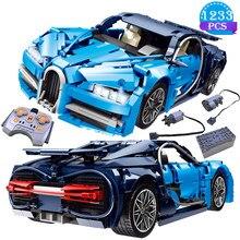 Criatividade famoso bloco de construção do carro de controle remoto modelo de carro de controle remoto azul tijolo carro brinquedos presentes aniversário para o namorado