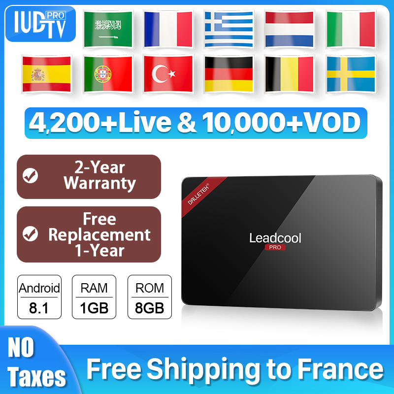 UK Swedish IPTV Subscription 1 Year IUDTV Code Leadcool Pro TV Box Android Germany Italy Indian Arabic Greece IP