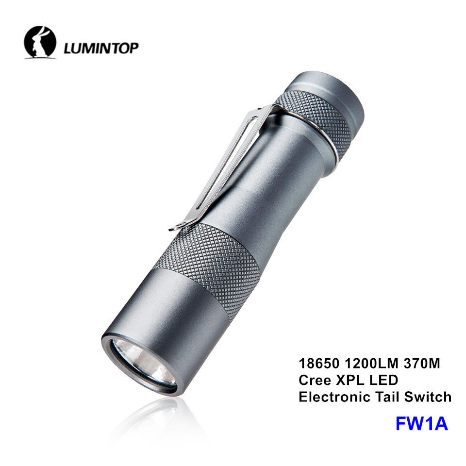 Lumintop FW1A FW21 Cree XPL SST20 LED 18650 21700 Portable Long Throw Range 2800lm Flashlight with Electronic Tail Switch