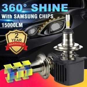 Image 2 - Светодиодная лампа H7 Canbus, светодиодные лампы H1 с чипами Samsung H11 H4, Светодиодные Автомобильные фары H8 9005 HB3 9006 HB4, светодиодная лампа, противотуманные фары лм