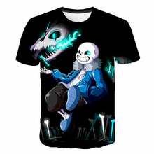 T-shirt Cosplay pour enfants, 4-14t, impression 3D Undertale Sans Cool, jeux pour garçons, hauts animés, pour filles