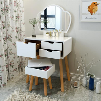 Dressing table, bedroom, modern simple small family, North European dressing table, girl's economic multi-functional net red dre northern europe light luxury style dressing table bedroom modern simple dressing table small family european style dressing tabl