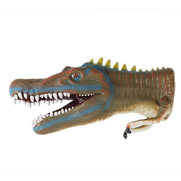 ????? ??????? Realistic Baryonyx Dinosaur Hand Puppet Role Toy Soft Touch Dinosaur Realistic Hand Gloves Soft Toy AnimalElectronic Toys